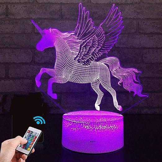 Amazon.com: Unicornio regalo unicornio lámpara de noche para ...