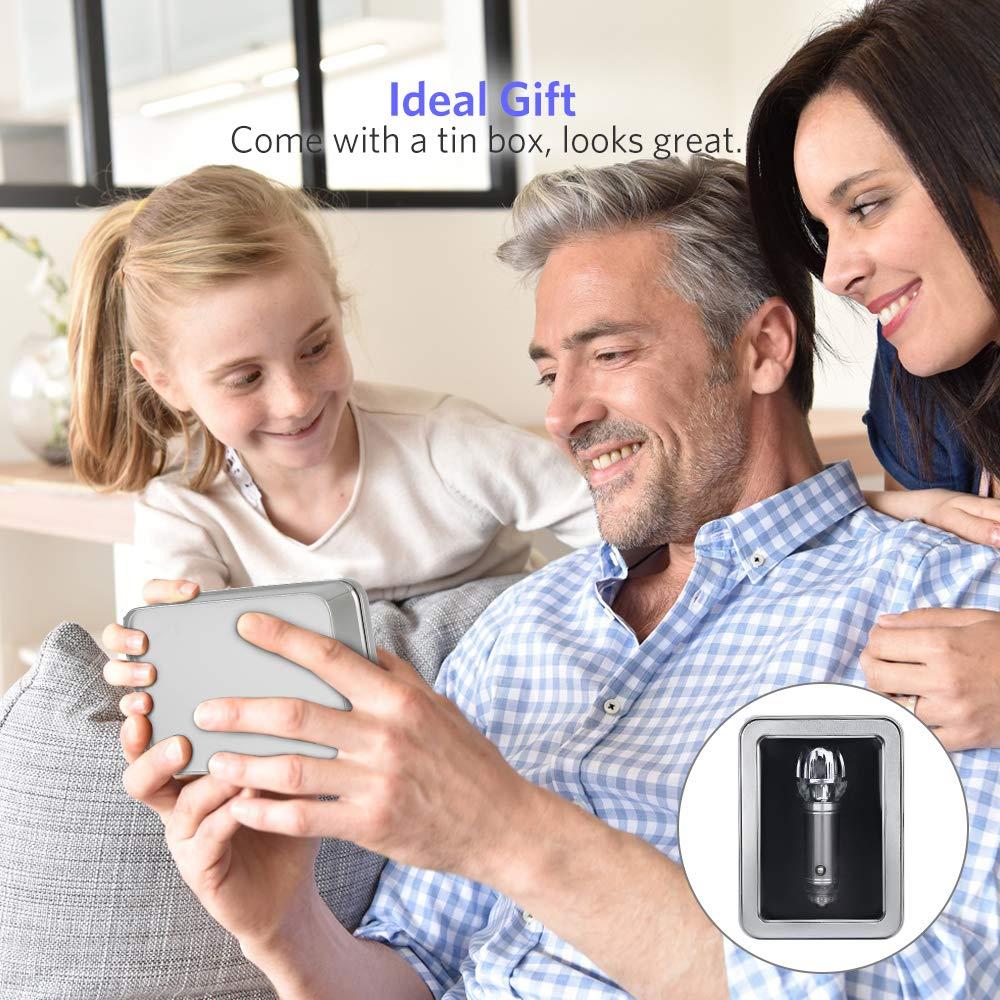 VADIV Purificador de Aire Coche Iónico, Desodorante Purificador Ionizador Elimina Pollen Humo Mal Olor Fumar Ideal para Automóvil o RV y Coche Regalo (sin Perfume)