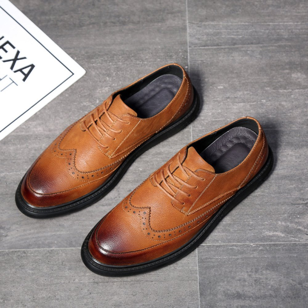 DHFUD Herrenschuhe Herren Lederschuhe Casual Geschäft Casual Lederschuhe Schuhe Lace Casual Herrenschuhe 4eb7d8