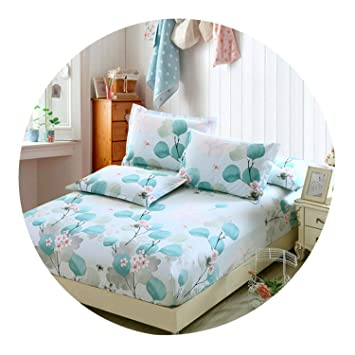 Cotton Bed Fitted Sheet Mattress Cover Floral Printed for Children Kids Adults