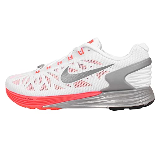 super popular 542ea 0bbb2 Nike Women s WMNS Lunarglide 6 NWM, White Reflect Silver-Sunset Glow, ...