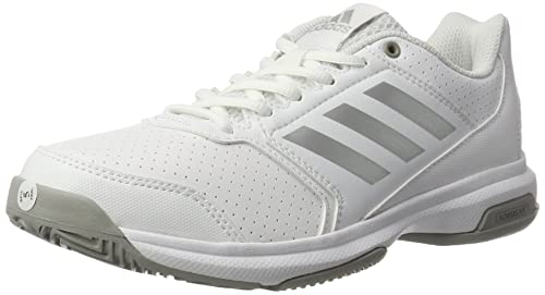 sale retailer 6a933 6d279 adidas Womens Adizero Attack Tennis Shoes, (FTWR WhiteSilvermetallicMGH  Solid Grey