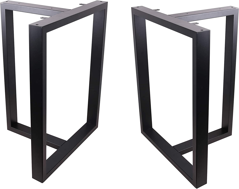 2X Table Legs Black Dining TableLeg Country Style Table Legs Modern Set of 2