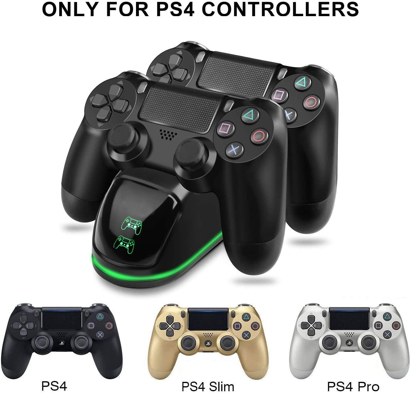 Amazon.com: Cargador controlador TGJOR PS4 – DualShock 4 PS4 ...