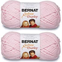 2-Pack - Bernat Softee Chunky Yarn, Baby Pink, Single Ball