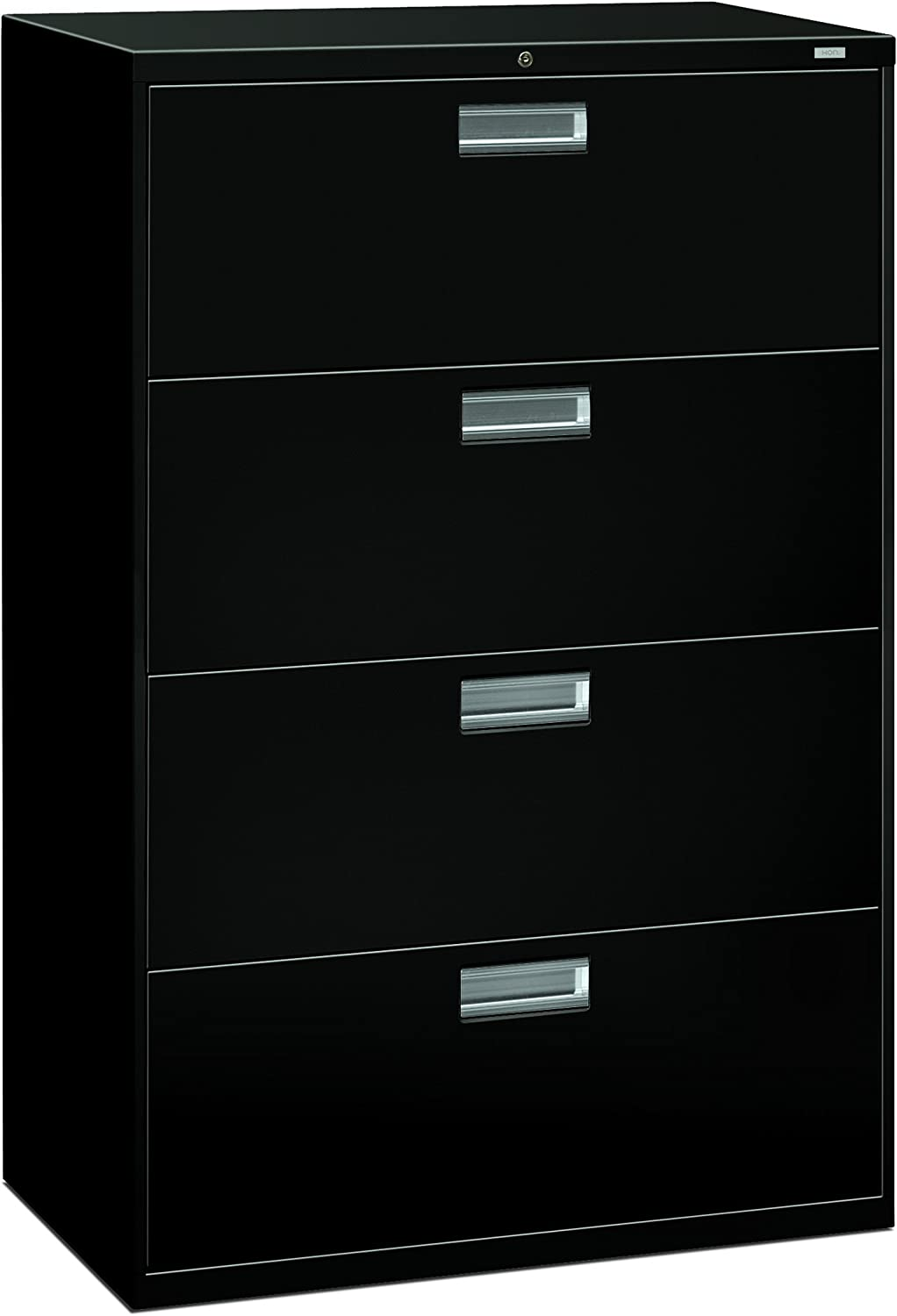 HON 4-Drawer Office Filing Cabinet - 600 Series Lateral Legal or Letter File Cabinet, 18