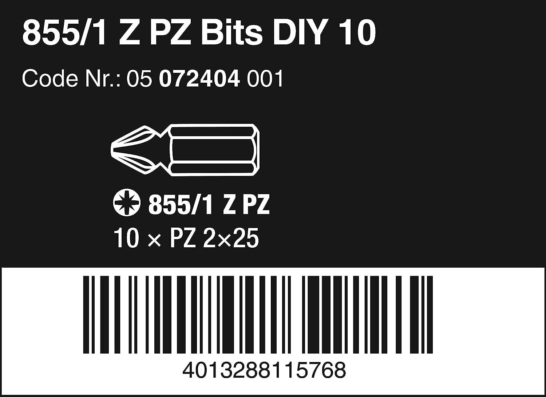 10 Bits pro Box PZ 2 x 25 mm 855//1 Z DIY Puntas Pozidriv