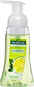 Palmolive Foaming Antibacterial Hand Wash Soap Lime and Mint Pump 0% Parabens Recyclable, 250mL