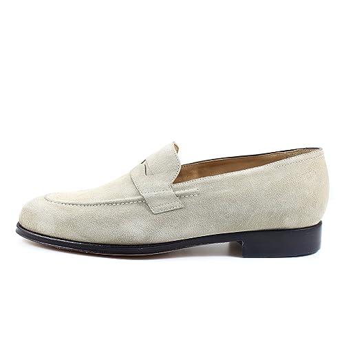 Giorgio Rea Zapatos Para Hombre Beige Elegante Hombre Zapatos Hecho A Mano EN Italia Cuero Real Brogue Oxfords Richelieu Mocasines: Amazon.es: Zapatos y ...