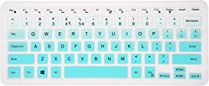 Keyboard Cover Compatible Dell Inspiron 13 5000 7000 Series 5368 i5378 7370 7373 7368 7378 7380 7386, Dell Inspiron 15 5568 5578 7568 7570 7573 7580 7586, XPS 15-9550 9560 9570 Laptop - Gradual Mint