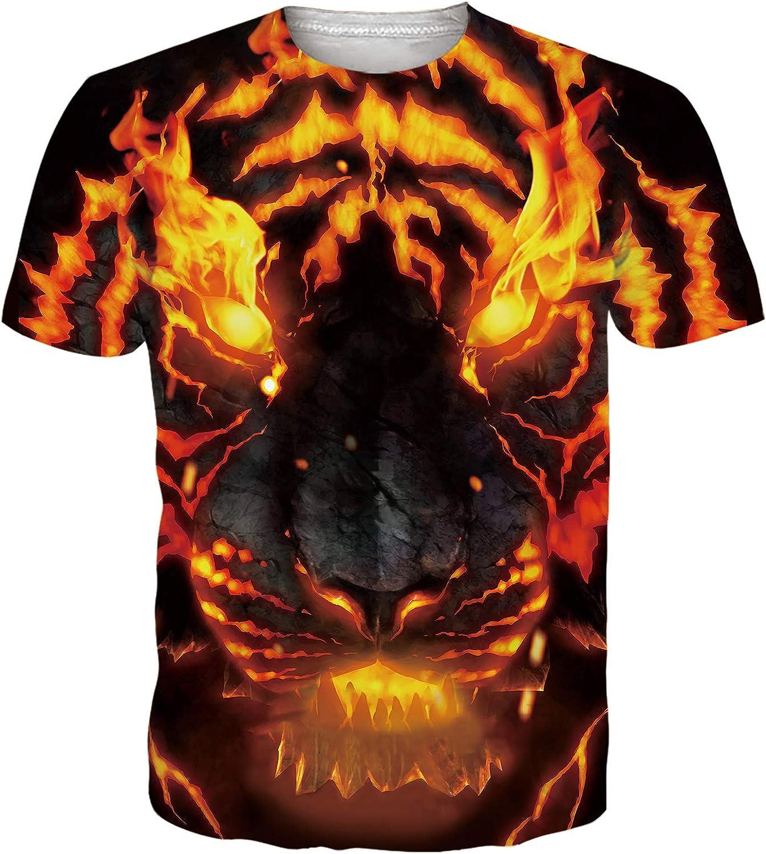 RAISEVERN Unisex Camiseta Estampada Hombre Divertidas Manga Corta T Shirt Funny S-XXL