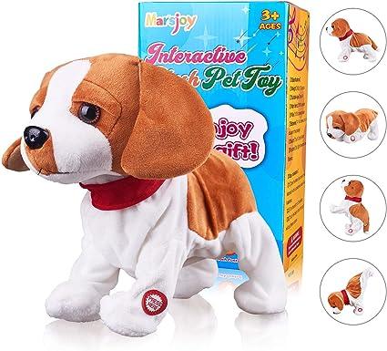 Amazon Com Pekingese Dog Interactive Barking Puppy Plush Animated Pet Electronic Dog Cute Robot Dog Baby Toys Touch Control Plush Stuffed Animal Dog Toy Toddler Kids Girl Toys Length 12 Toys Games