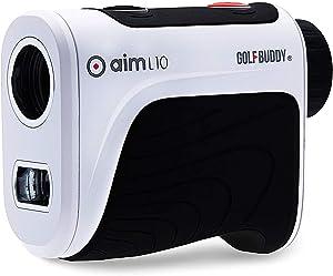GolfBuddy AIM-L10 Aim L10 Ergonomic Golf Accuracy Distance Laser Rangefinder