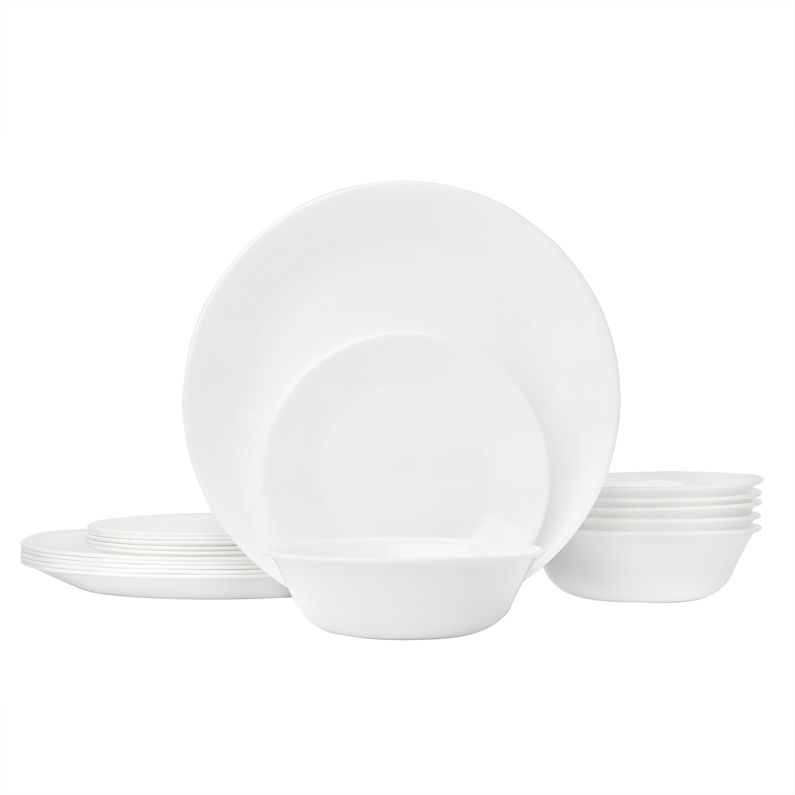 Corelle Winter Frost White Dinnerware Set (18-Piece, Service for 6) by Corelle (Image #1)
