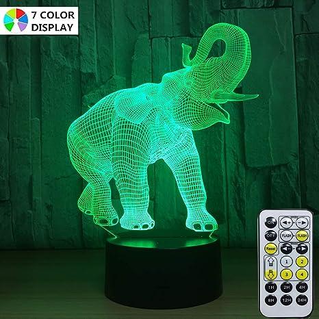 Amazon.com: Menzee - Lámpara de iluminación 3D para ...