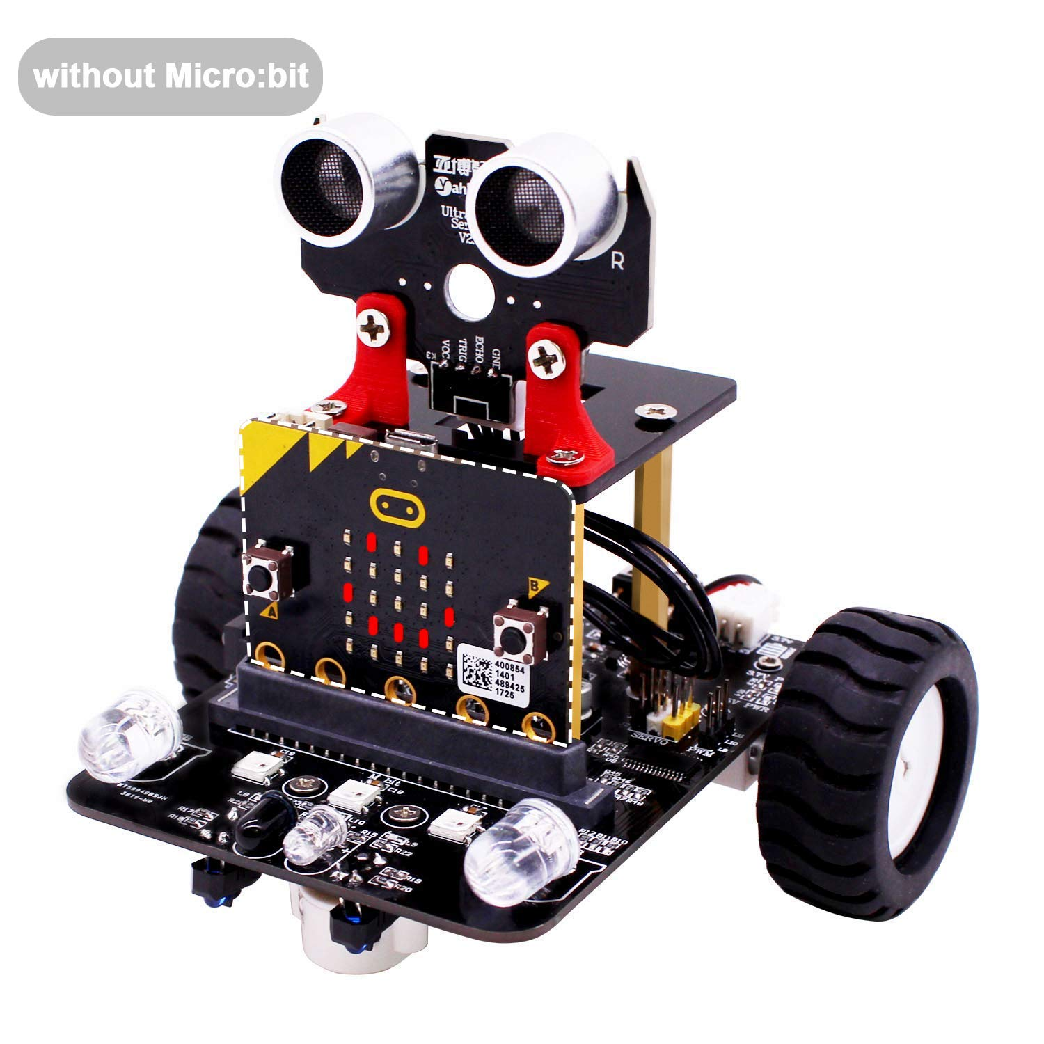 Yahboom Robot Kit for Microbit STEM Education for Kids to Programmable BBC Micro:bit DIY Toy Car with Tutorial Electronic Science for 8+ (Without Micro bit) by Yahboom (Image #1)