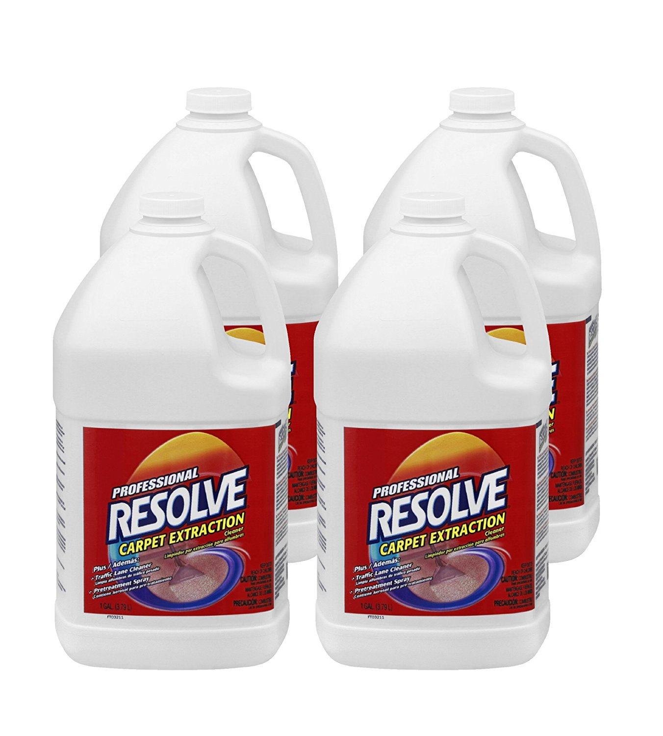 Professional RESOLVE Carpet Extraction Cleaner, 1 gal. Bottle - Includes four per case. by Professional RESOLVE