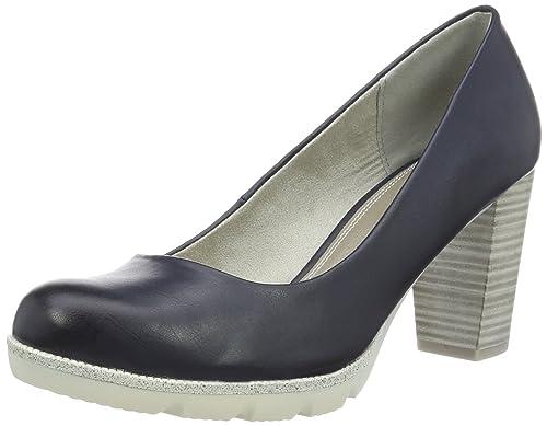 Mujer Tacón Azul Zapatos 22412 de Antic Navy para 892 Marco Tozzi IpSfqwIY