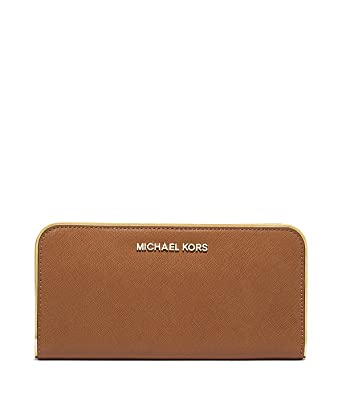 84b72ac49fed Image Unavailable. Image not available for. Color  Michael Kors Specchio Jet  Set Travel Zip Around Wallet (Luggage)
