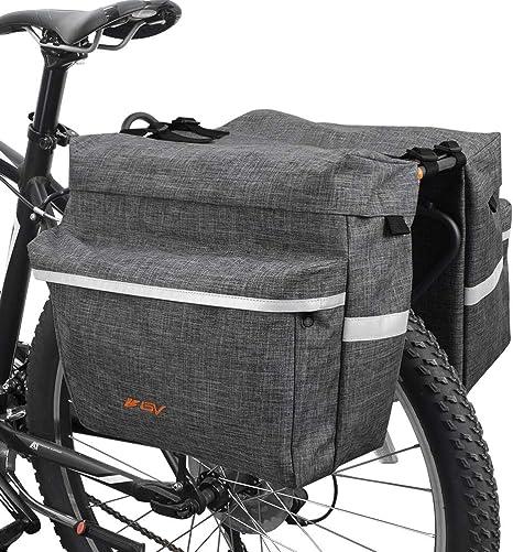 BV Alforjas de Bicicleta Ganchos Ajustables, Asa de Transporte ...