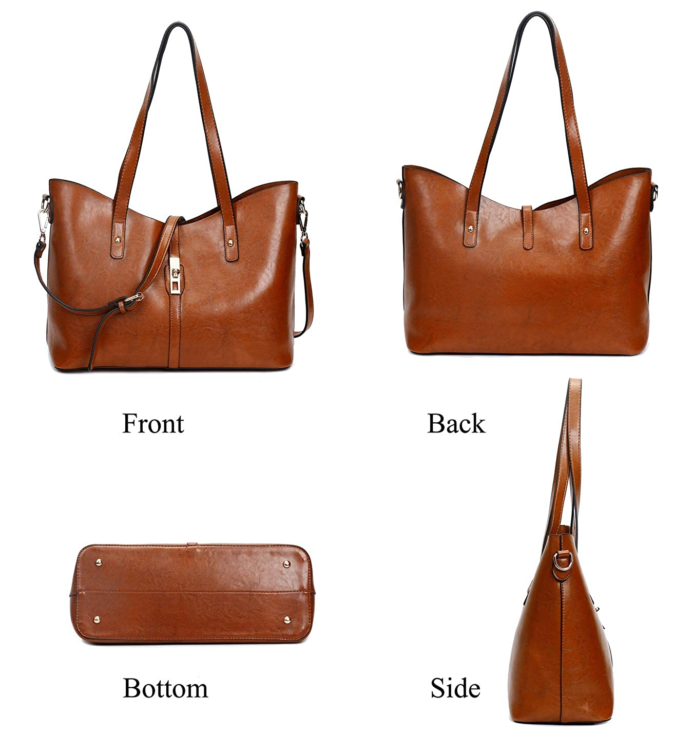 Large Purses Sets Handbags for Women Leather Tote Hobo Bags 4pcs