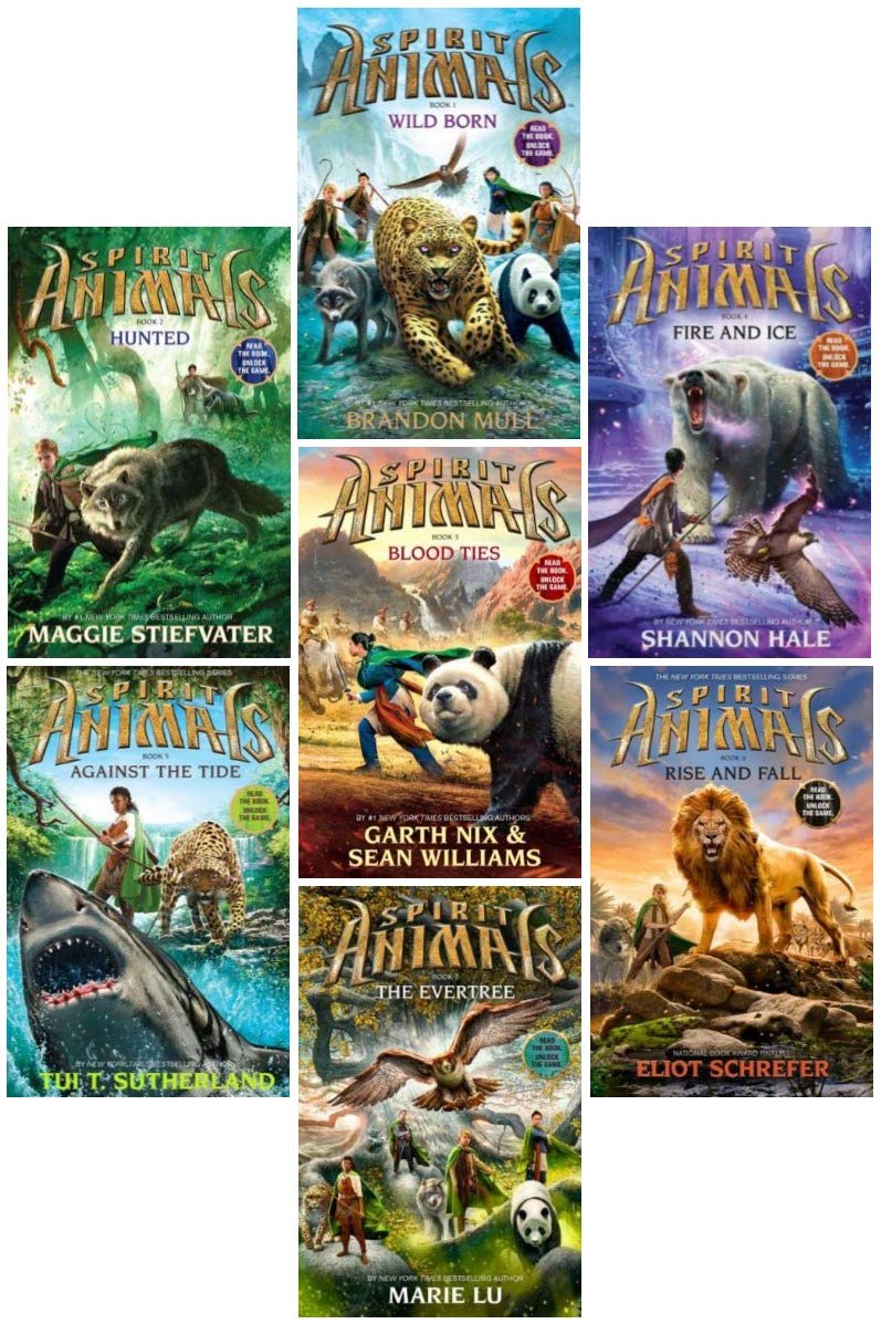 Spirit Animals Series SET, Books 1-7 . #1. Wild Born, #2. Hunted ...