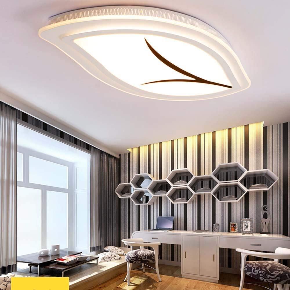 HYW Deckenleuchte-einfache kreative Blatt geformt führte Acryl-Deckenleuchten postmoderne Gäste warme Schlafzimmer Deckenleuchten (Größe, Lichtfarbe optional) -Home warme Deckenleuchte,Warm-Licht-25