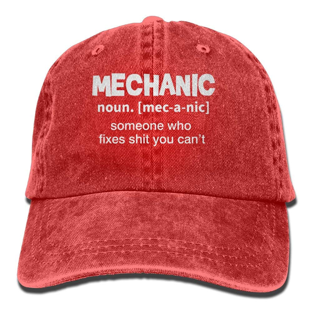 MECHANIC DEFINITION Baseball Hat Men And Women Summer Sun Hat Travel  Sunscreen Cap Fishing Outdoors at Amazon Men s Clothing store  4e1199d90