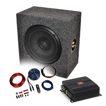 Media DOX – 2 Canales Amplificador/Amplificador + Cable + Subwoofer de 20 cm de