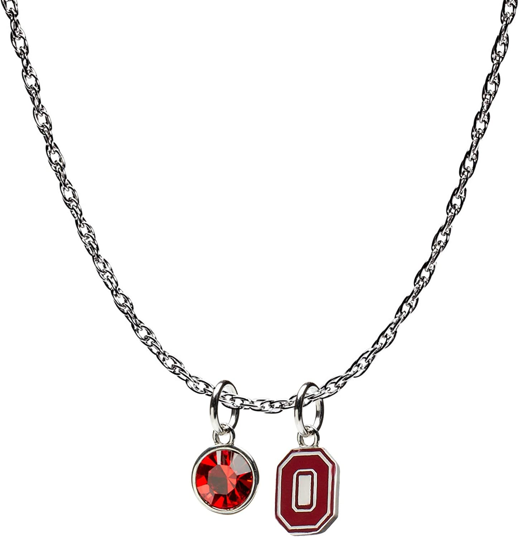 SANDOL Ohio State Buckeyes O-H-I-O Necklace