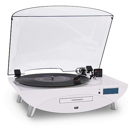 Thomson TT401CD- Tocadiscos, blanco: Amazon.es: Electrónica