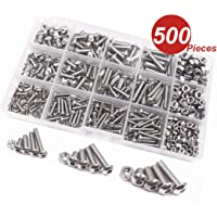 WINGONEER 500Pcs M3 M4 M5 304 acero inoxidable