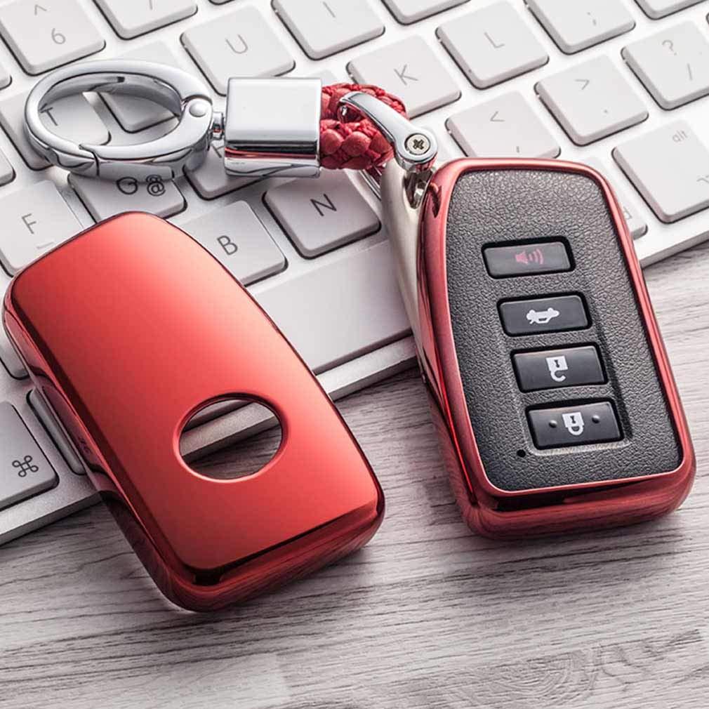 Azul Funda de TPU Suave para Llave Llavero para Coche Lexus IS ES GS LS NX RS GX LX RC LC RX 2//3//4-Buttons