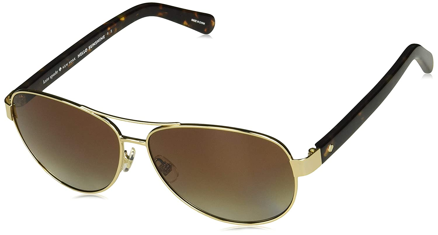 0d31557e9 Amazon.com: Kate Spade Women's Dalia2/p/s Polarized Rectangular Sunglasses,  GOLD HAVANA, 58 mm: Clothing