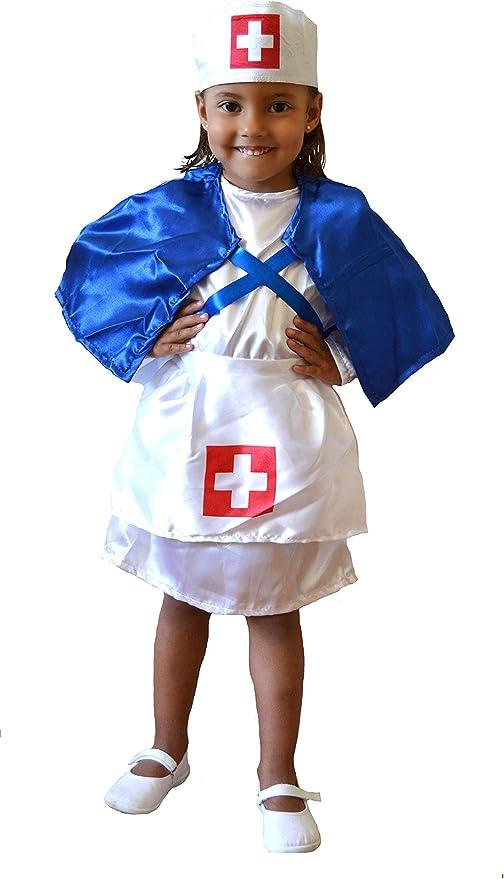 EL CARNAVAL Disfraz Enfermera niña Talla de 2 a 4 años: Amazon.es ...