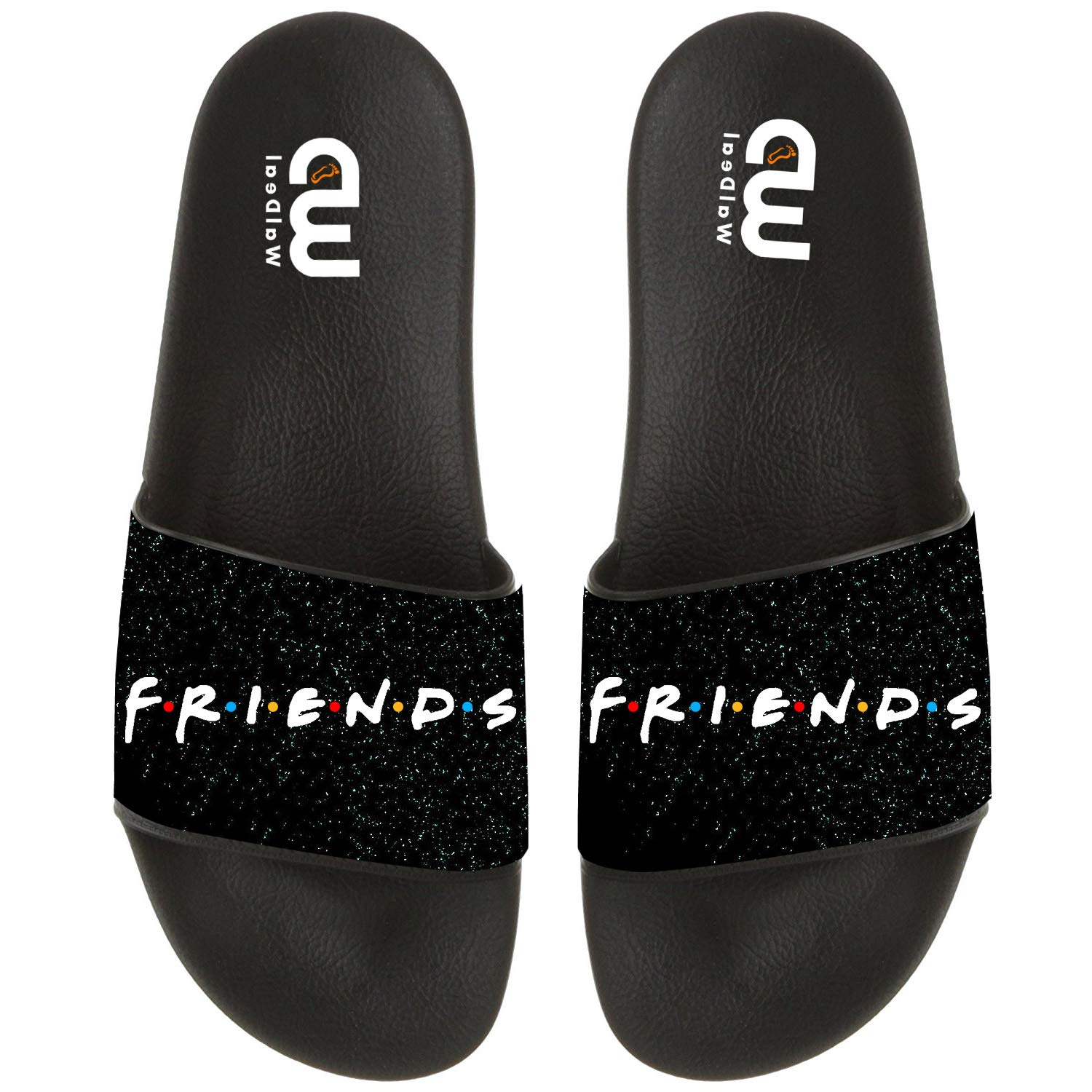 7a5cd040589ed Amazon.com: Friends Quotes Gift Summer Slides Slipper For Men Women Outdoor  Beach Indoor Home Casual Sandal Shoes: Clothing