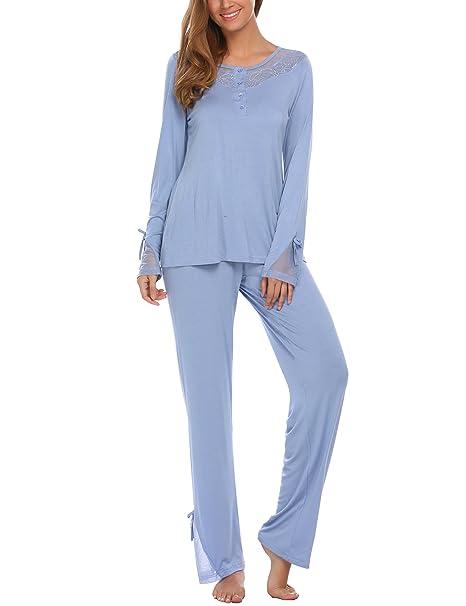 Unibelle - Pijama - Manga Larga - para Mujer 1_Blau S