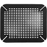 InterDesign Basic Sink Mat, Sink Protector Ideal for Drying Dishes, Made of Durable PVC Plastic, Black