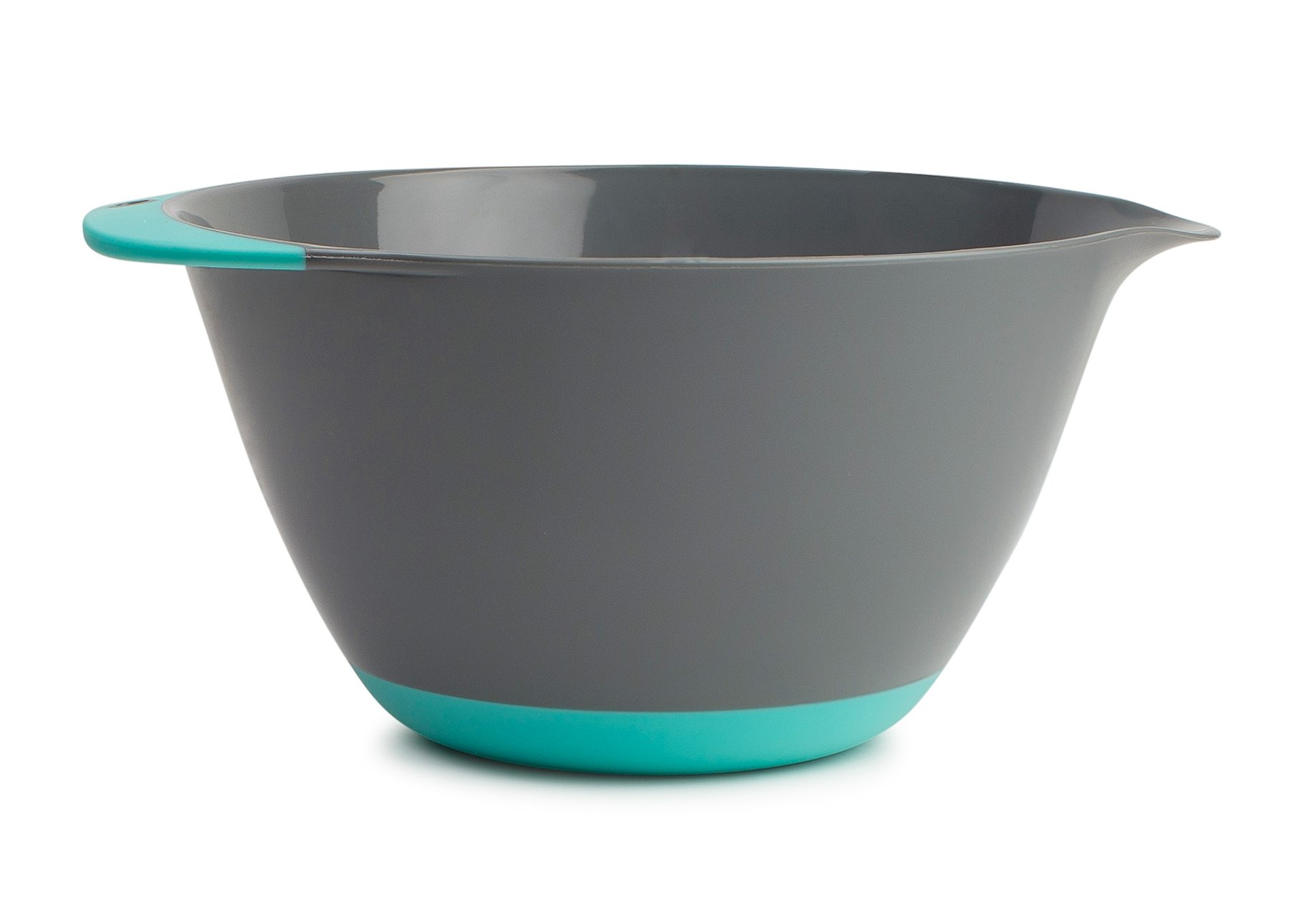 Kukpo Easy Grip Mixing Bowl - X-LARGE 6.5 QT Easy Grip Handle- And Non Skid Bottom