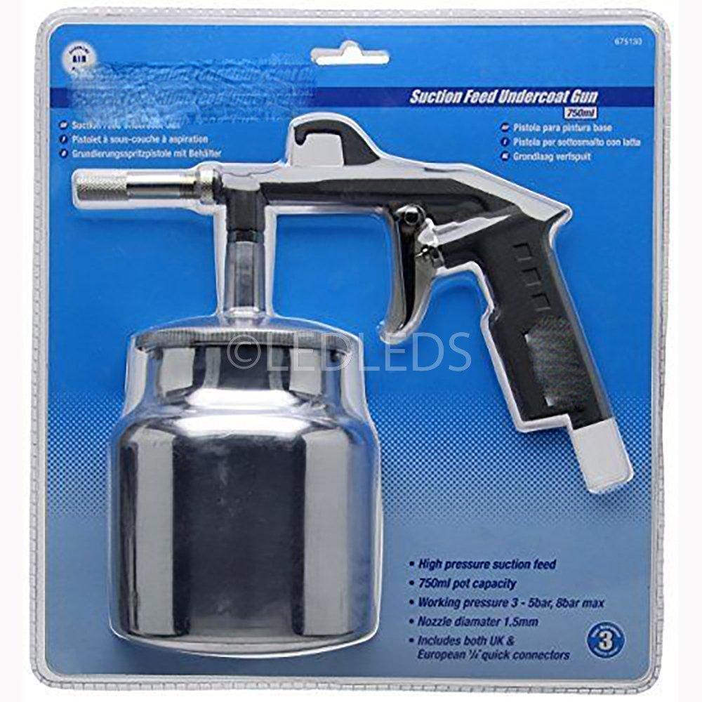Pistola neumática Aire Compresor 750 ml Arenadora sabbiare a Depósito 1.5 mm: Amazon.es: Bricolaje y herramientas