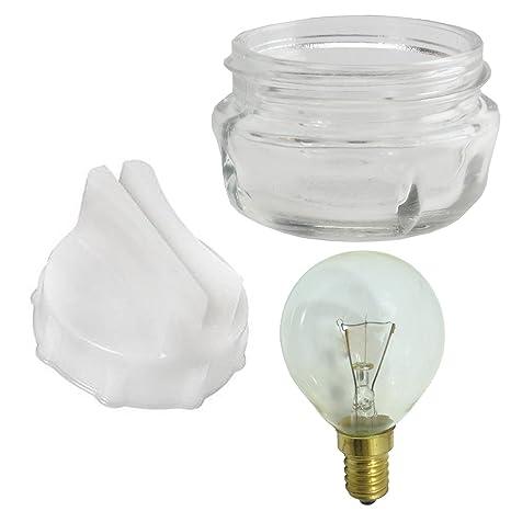 Spares2go tornillo bombilla lámpara de cristal en tapa de la lente ...
