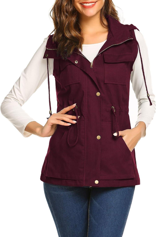 Beyove Womens Lightweight Sleeveless Military Anorak Cargo Vest Hooded No Hood At Amazon Women S Coats Shop