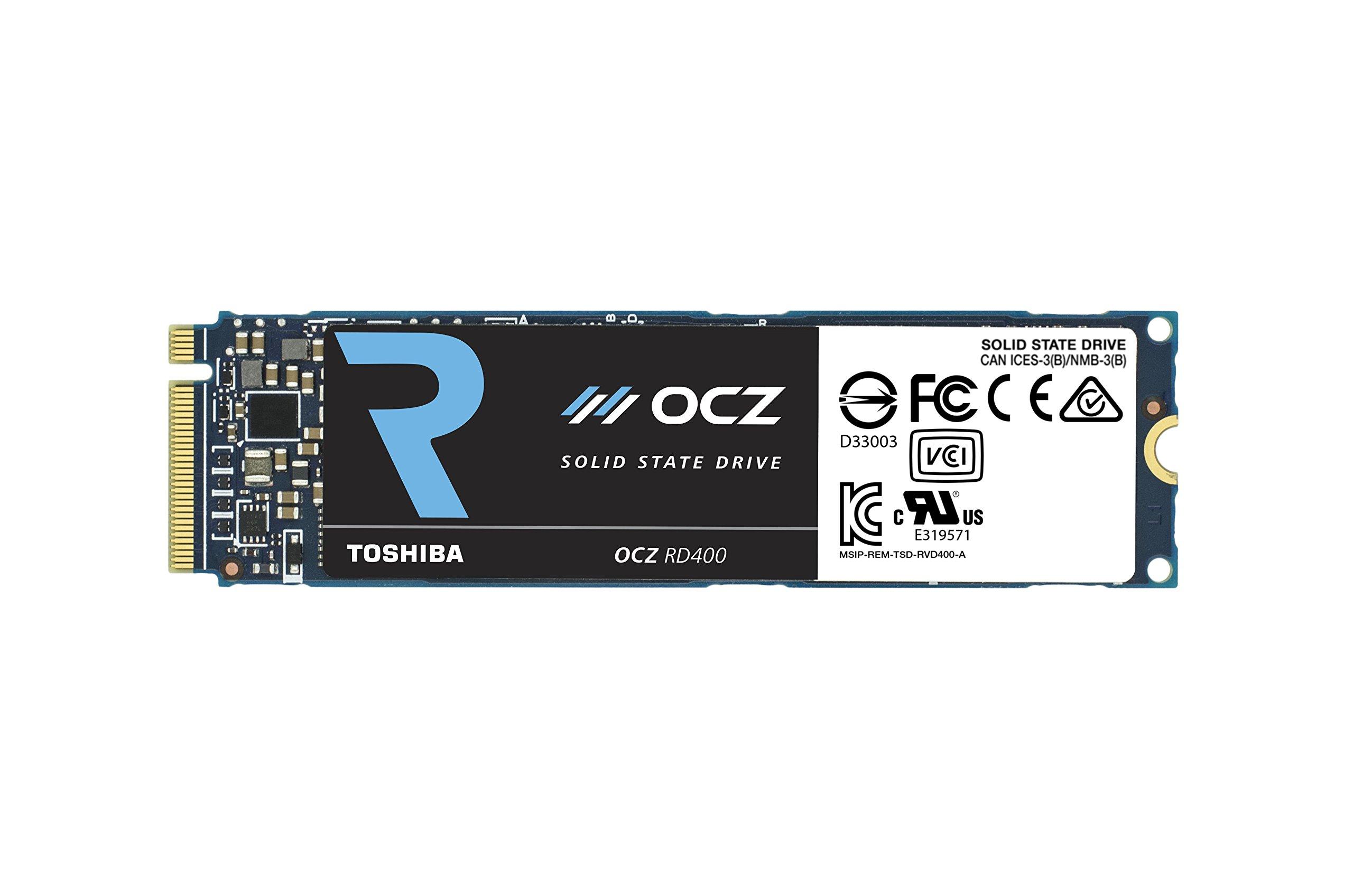 Toshiba OCZ RD400 Series Solid State Drive PCIe NVMe M.2 256GB with MLC Flash (RVD400-M22280-256G) by Toshiba OCZ
