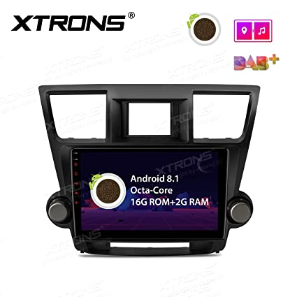 XTRONS 10 1 inch Touch Display Android 8 1 Car Stereo Radio GPS Navigator  with USB SD Port Full RCA Output Bluetooth 5 0 Supports WiFi 4G TPMS OBD  for