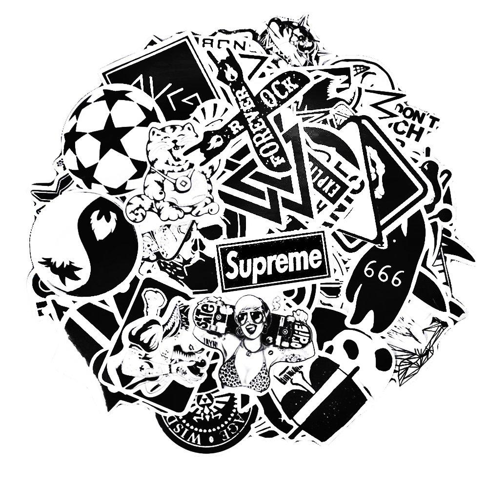 Amazon Co Jp Sticker Pack 100 Pcs Neuleben Graffiti Black