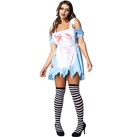 dressforfun 900436- Disfraz de Mujer Alicia Zombi, Vestido Corto ...