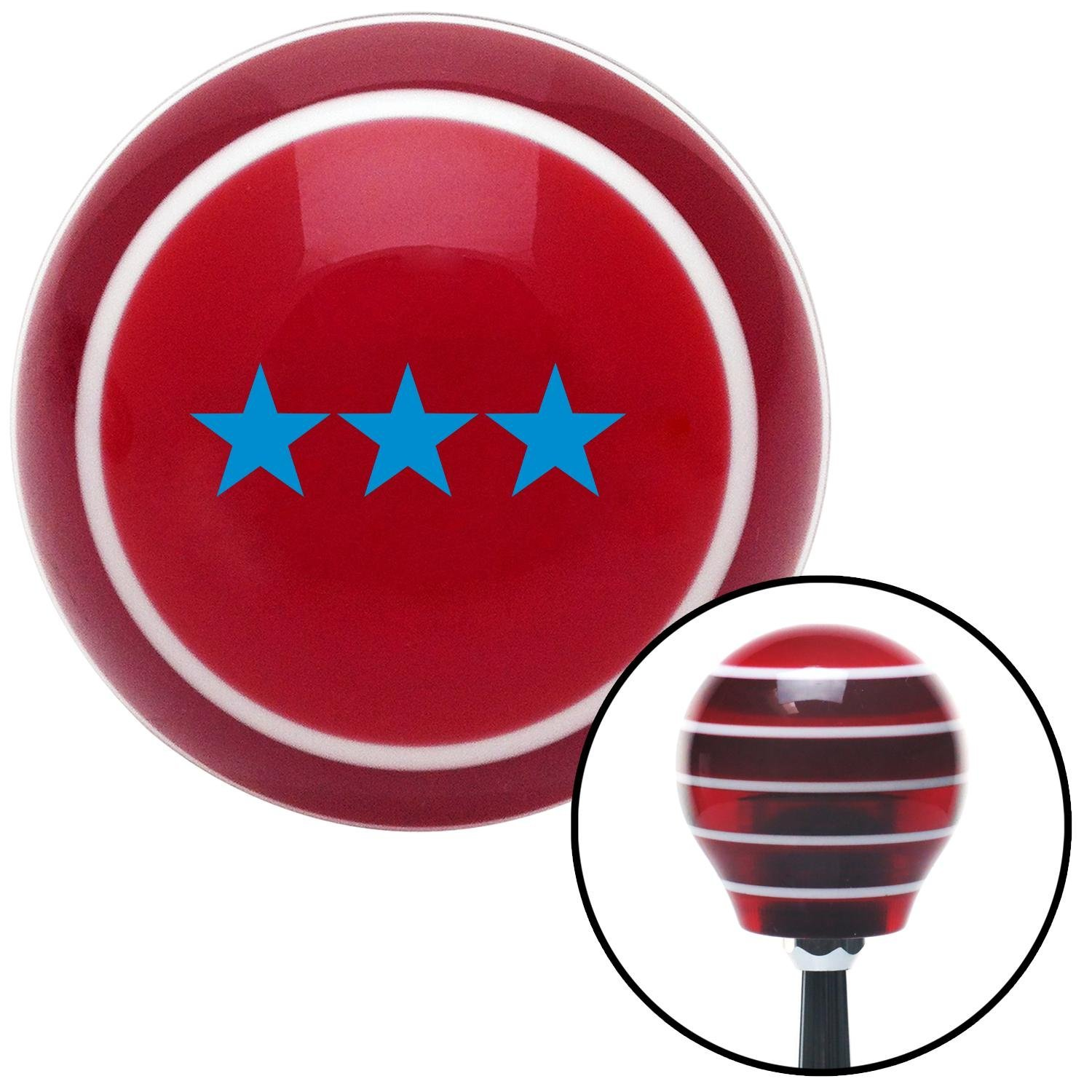 Blue Officer 09 - Vice Admiral American Shifter 115551 Red Stripe Shift Knob with M16 x 1.5 Insert