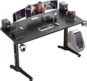 Large 63//55/'/' Computer Gamer Desk Gaming Table Ergonomic Home Office Workstation