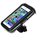Vodool Universal Case Bike Mount Holder with Waterproof Bag Case For Smartphone 5.5 inch with 360° Rotation Angle for iPhone 7 7plus 6 6S 5 5S for Samsung S6 S7 and More Mobile Phones