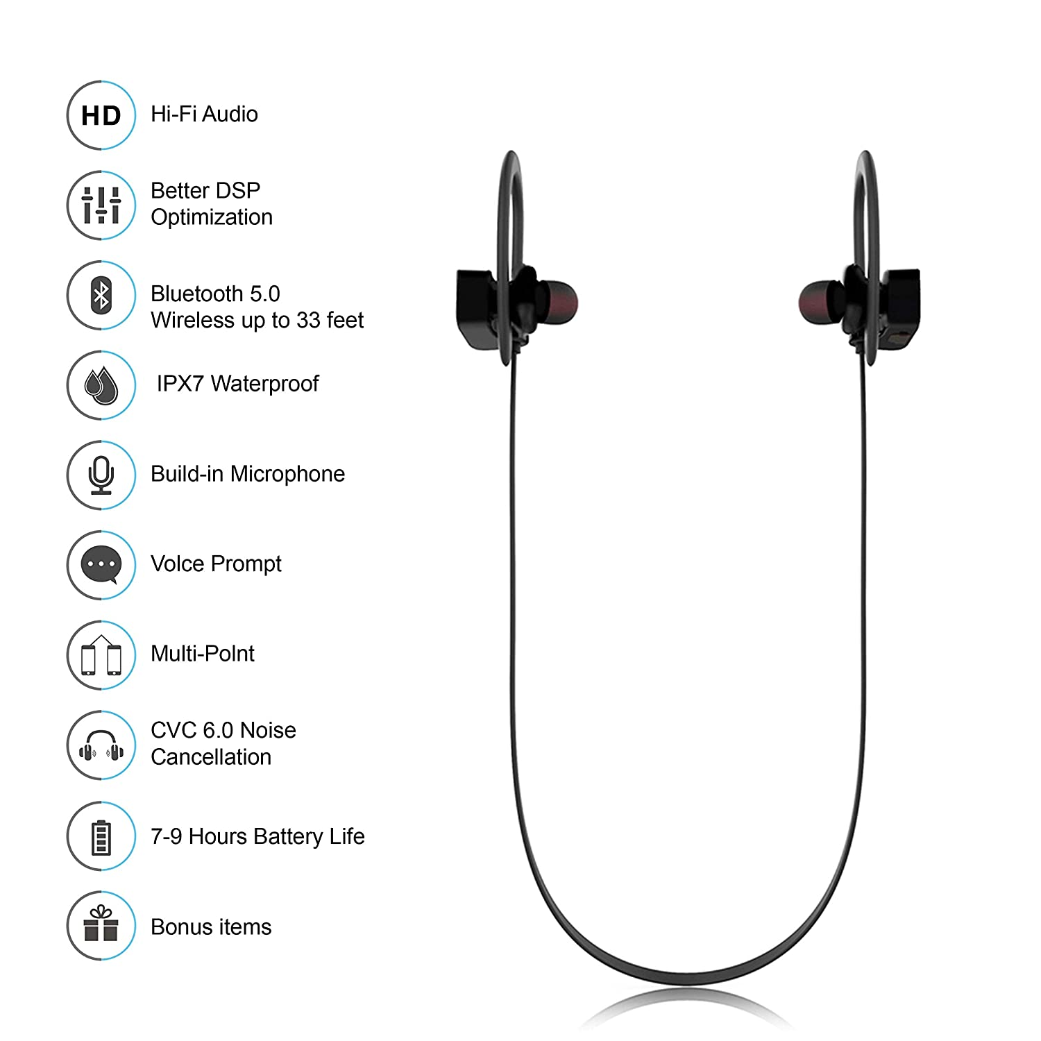 Bluetooth Headphones Hussar Magicbuds Best Wireless Circuit Design Quality Suppliers Sports Earphones With Mic Ipx7 Waterproof Hd Sound Bass Noise Cancelling